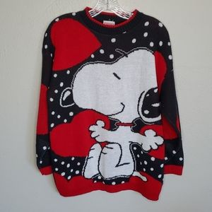 Vintage 80s Snoopy Valentines sweater